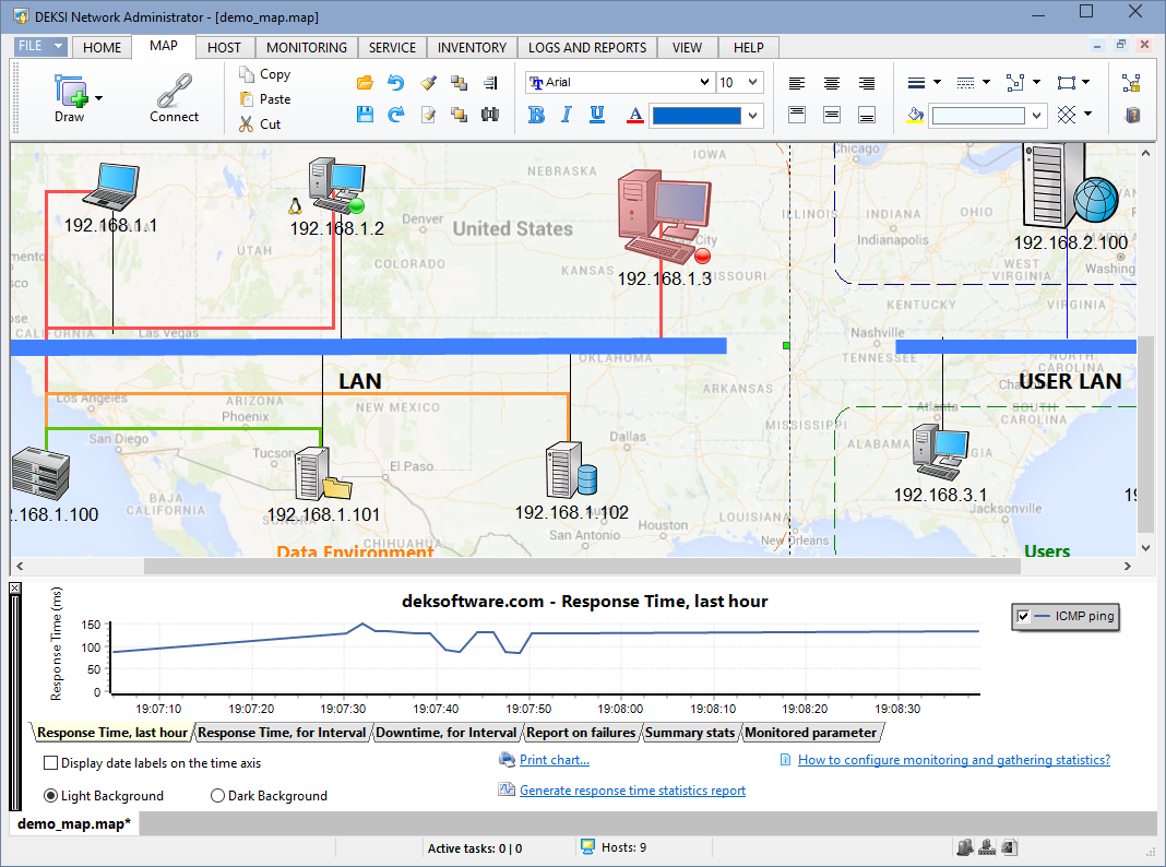 Network mapping software monitor map diagram your network Diagram drawing software free download