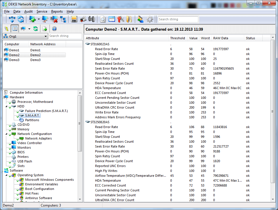 DEKSI Network Inventory Screenshots